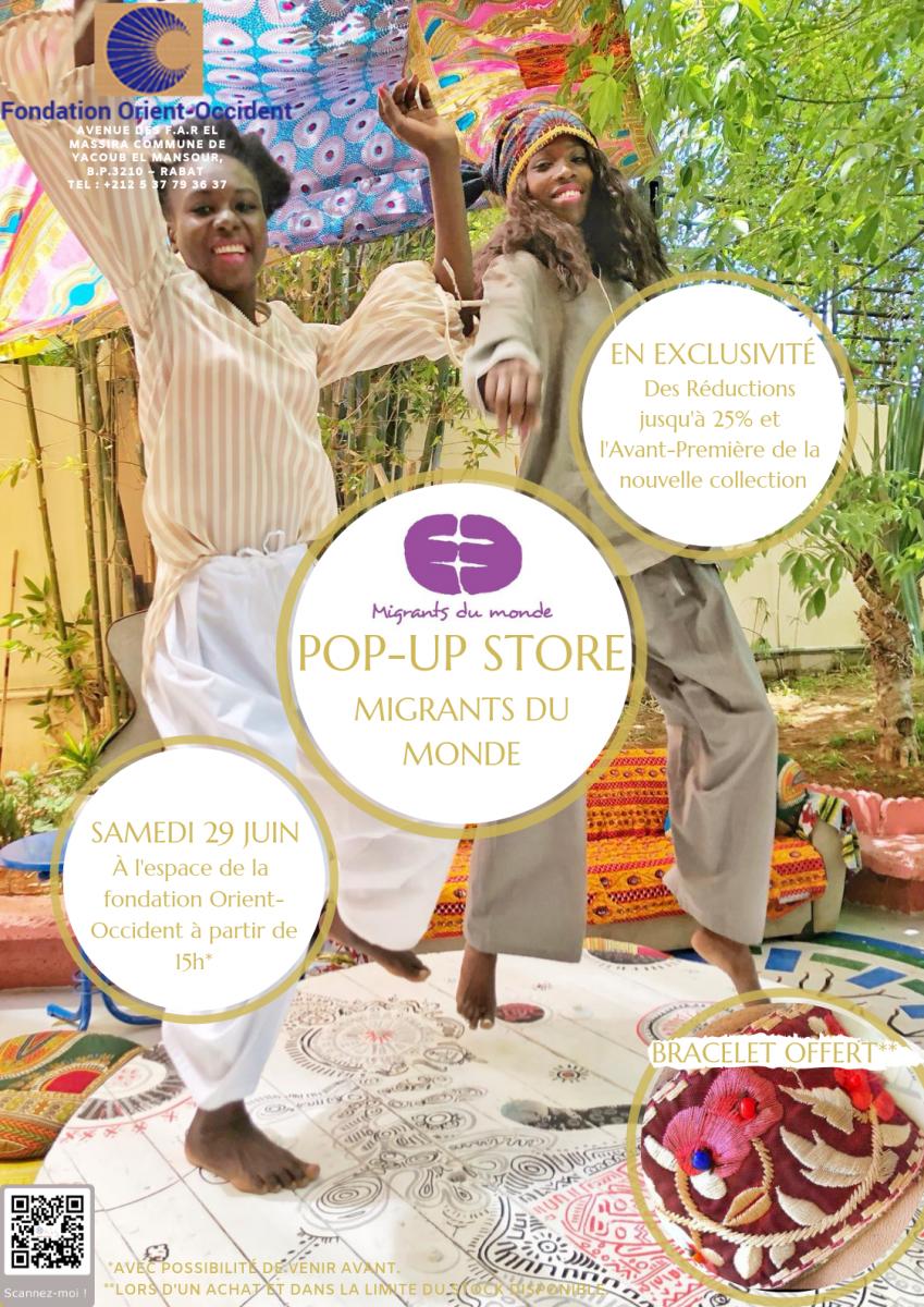 "Pop-up store ""Migrants du Monde"""