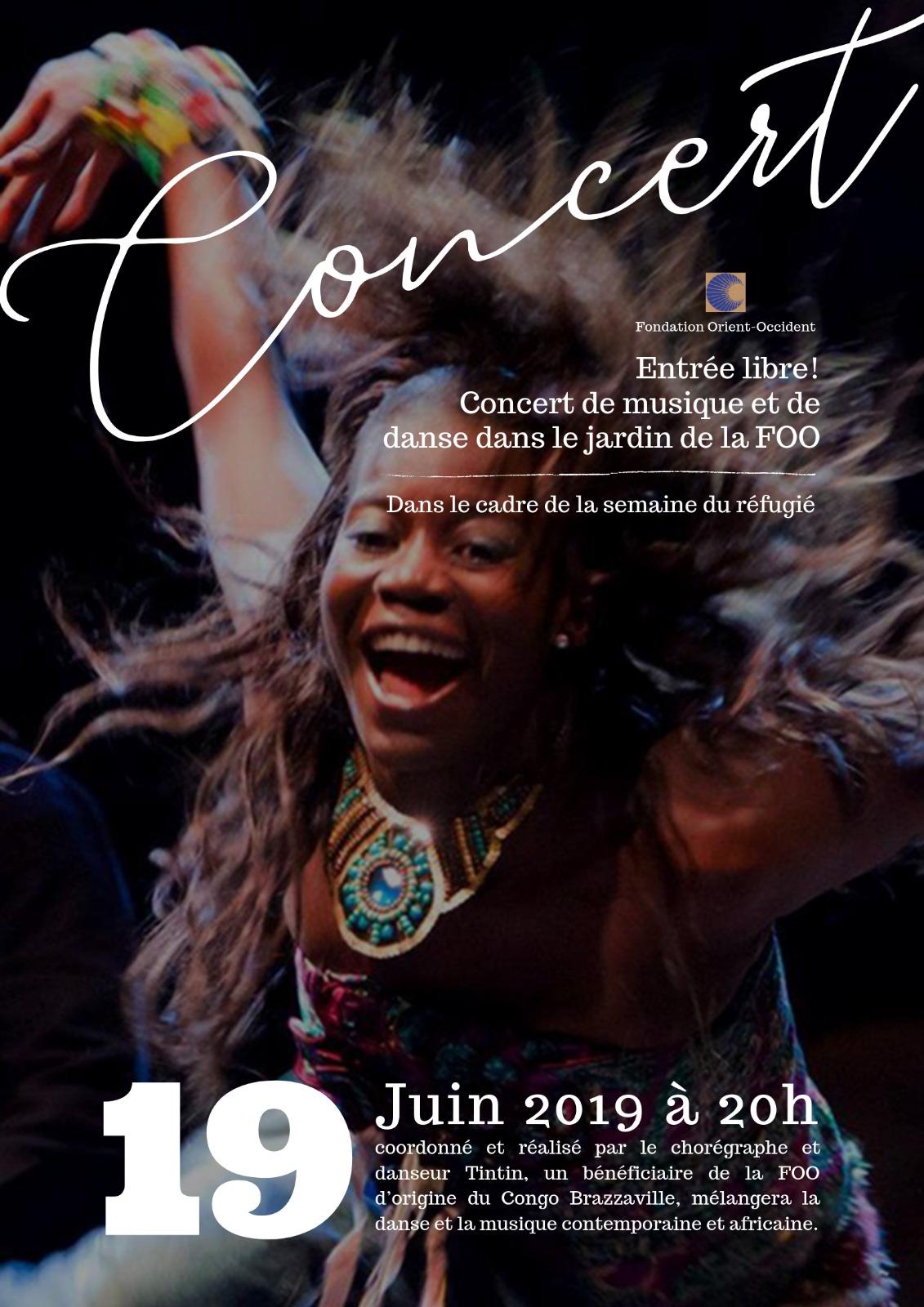Dans le cadre de la semaine mondiale du réfugié – Concert de musique et danse