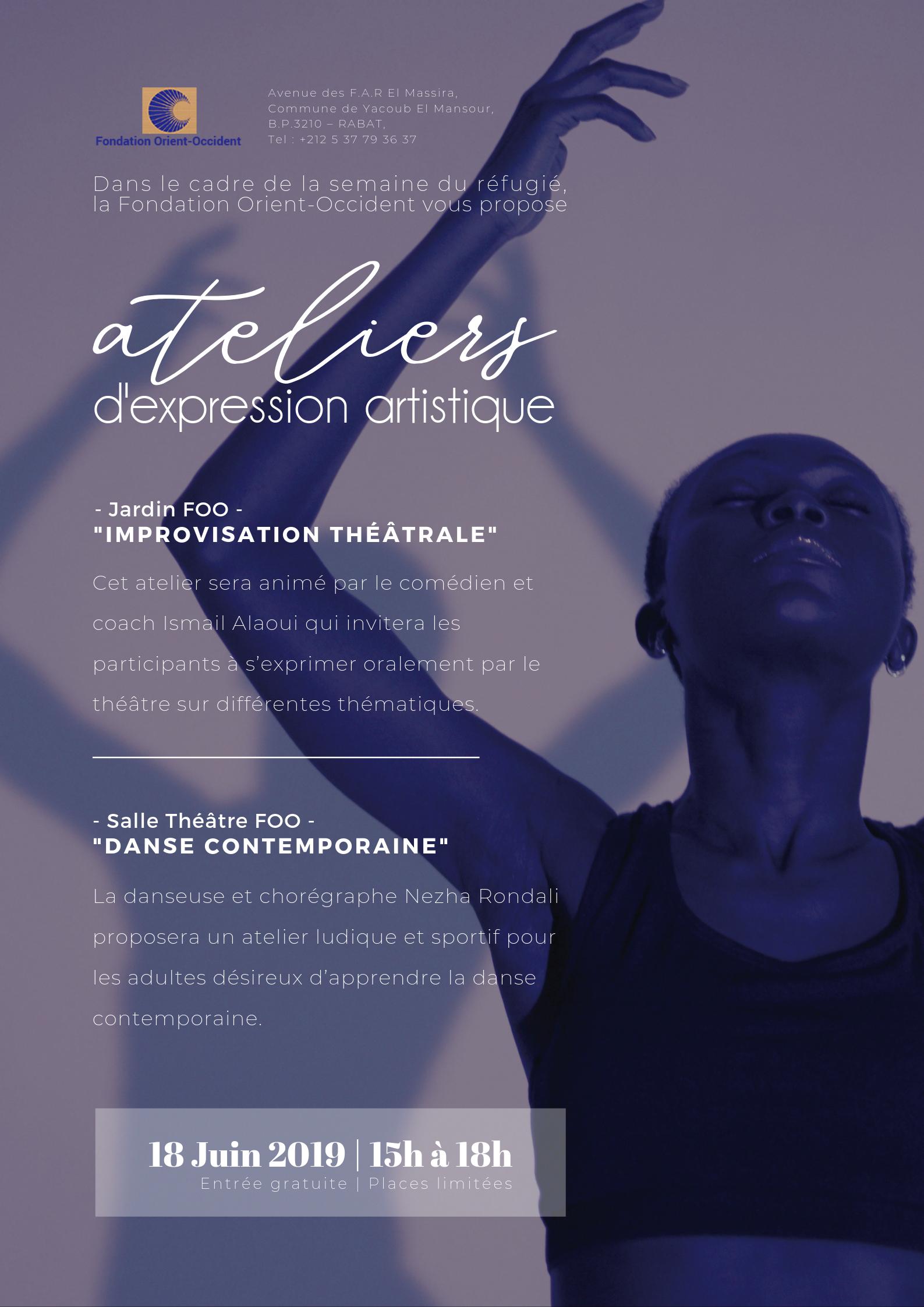 Ateliers danse et théâtre proposés par la Fondation à l'occasion de la Semaine du Réfugié