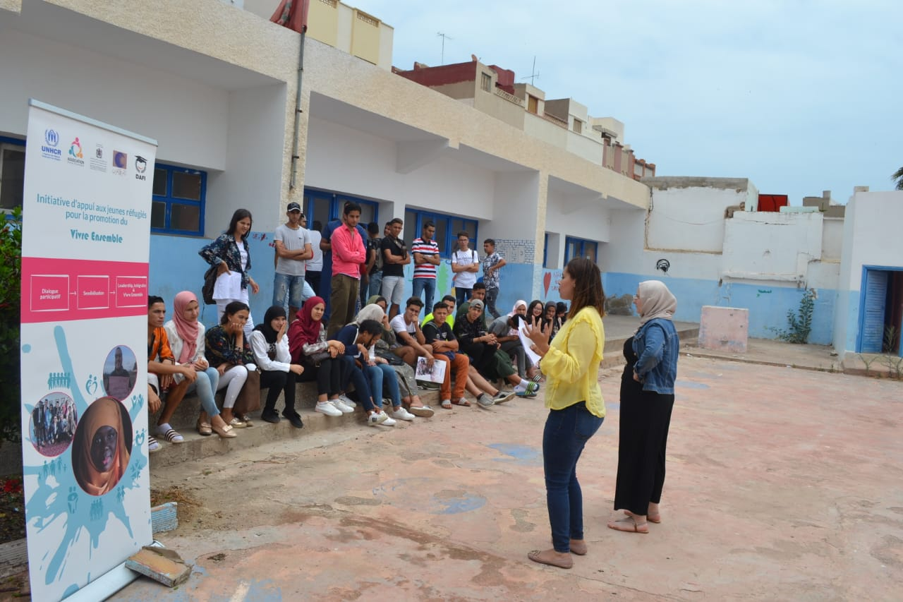 """Awareness raising and exchange workshop at the school """"New Generation"""", in Nador, for the youth aged 15-18 – photogallery"""
