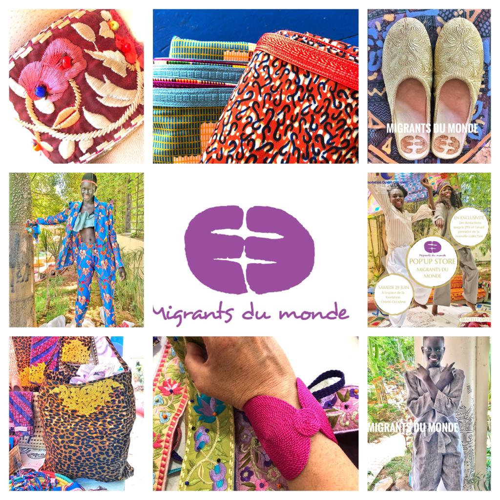 """On Saturday, the 29th of June, at the Fondation Orient-Occident of Rabat: Pop-up store by """"Migrants du Monde"""", embroidery and sewing Atelier run by Moroccan, refugee and migrant women"""