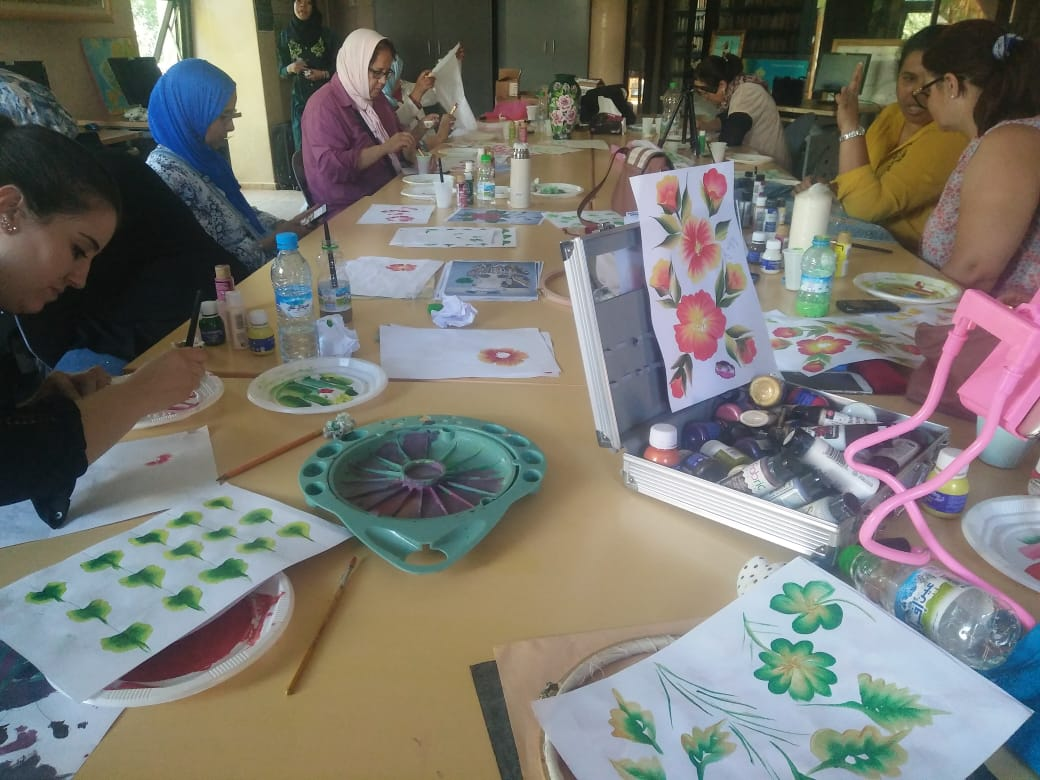 Photogallery from the workshop of Artisanal Art organized by the Association Hiba Fenn
