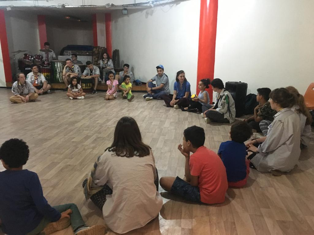 Summer activities with the Belgian and Spanish scouts at the Fondation Orient-Occident of Rabat