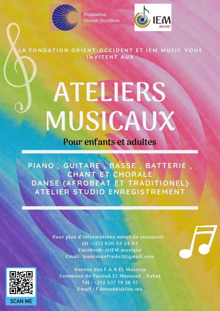 This year at the Fondation Orient-Occident: musical workshops!