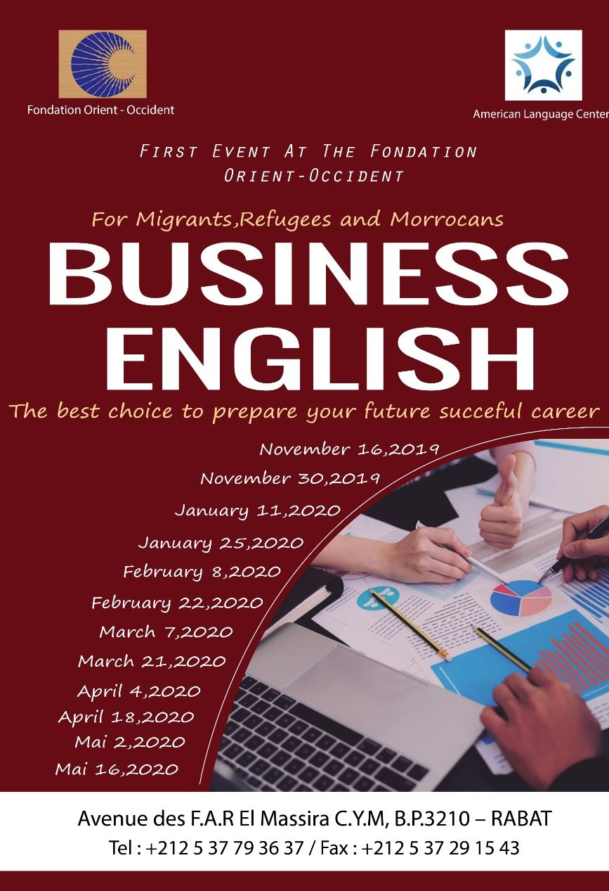 Business English classes at the Fondation Orient-Occident of Rabat
