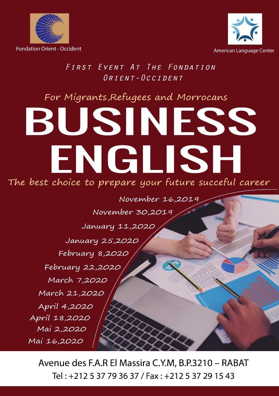 Cours d'anglais des affaires à la fondation orient-occident de Rabat
