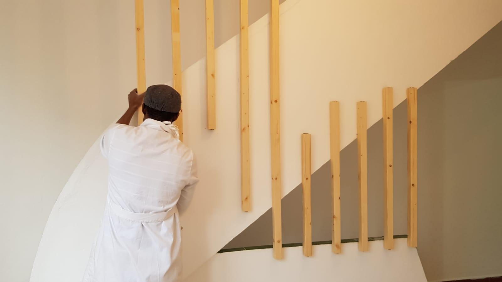 Sécurisation des escaliers du centre d'assistance et d'accueil de la Fondation à Tanger