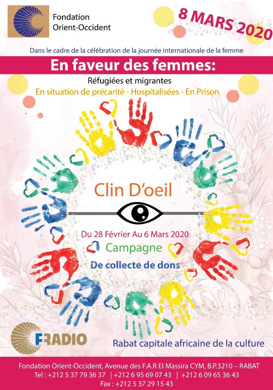 «Clin D'Oeil», campagne de collecte de dons pour les femmes réfugiées et migrantes