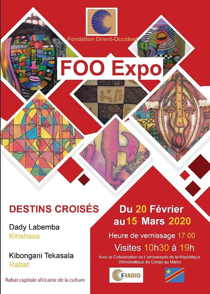 FOO expo – exposition d'art/vente à la Fondation Orient-Occident de Rabat
