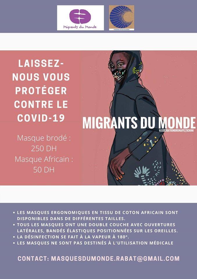 Migrants du Monde face masks