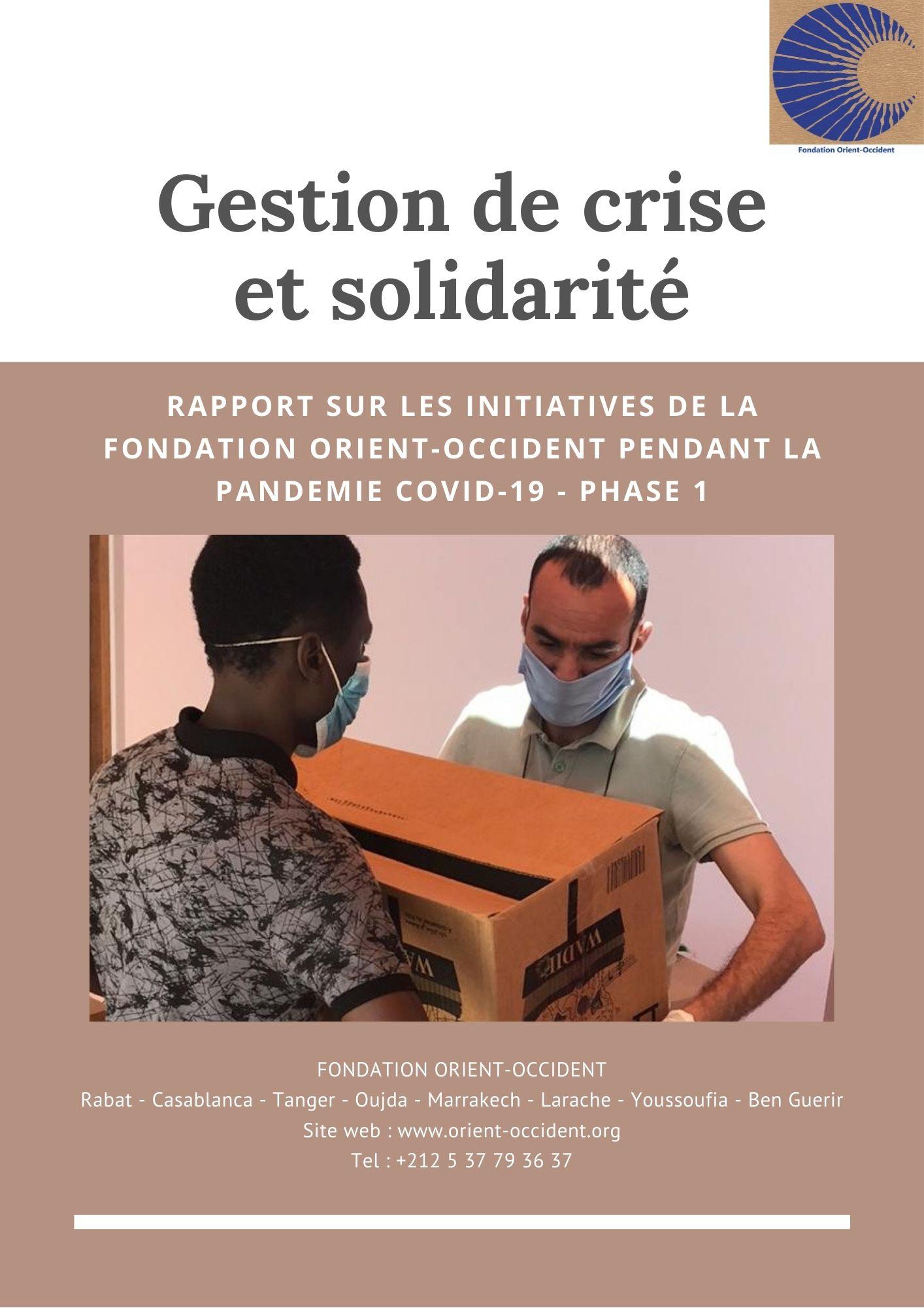 Rapport – Gestion de crise et solidarité – Covid-19 phase 1