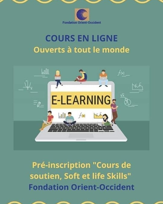E-learning at the Fondation Orient-Occident: enroll to an online course
