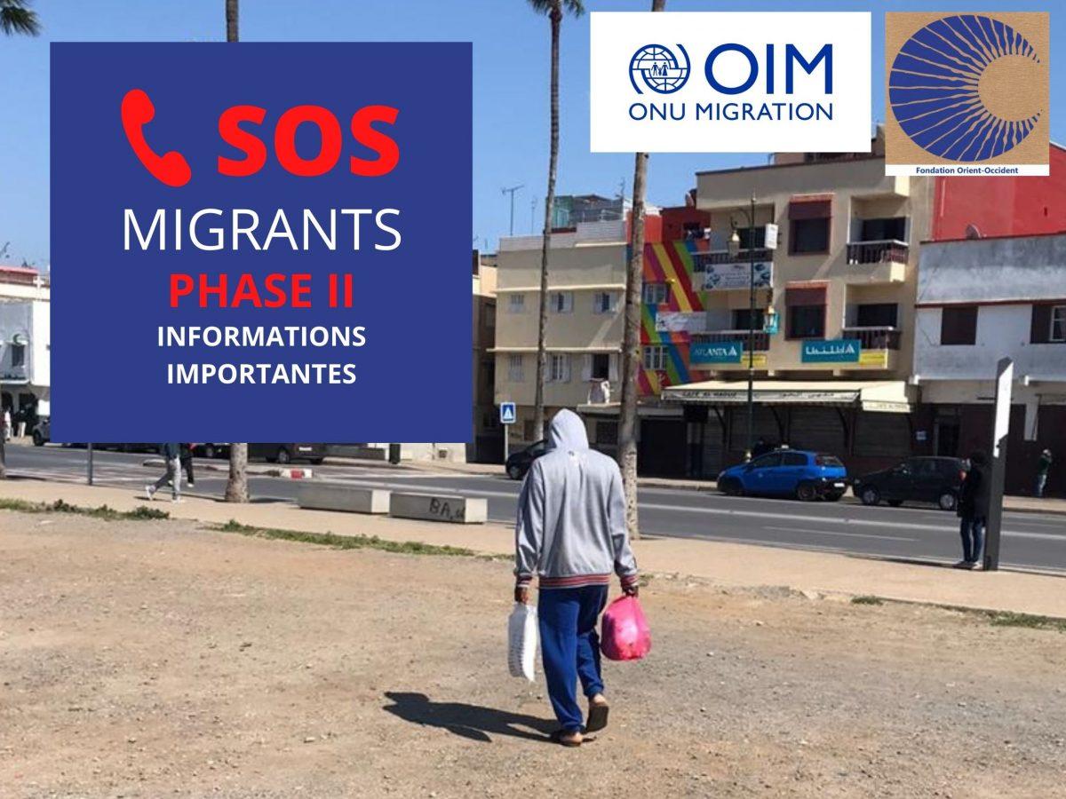 SOS MIGRANTS PHASE II – Distribution alimentaire et assistance psychologique – INFORMATIONS IMPORTANTES