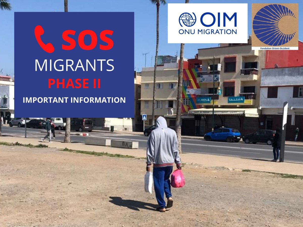 SOS MIGRANTS PHASE II – Food distribution and psychological assistance – IMPORTANT INFORMATION