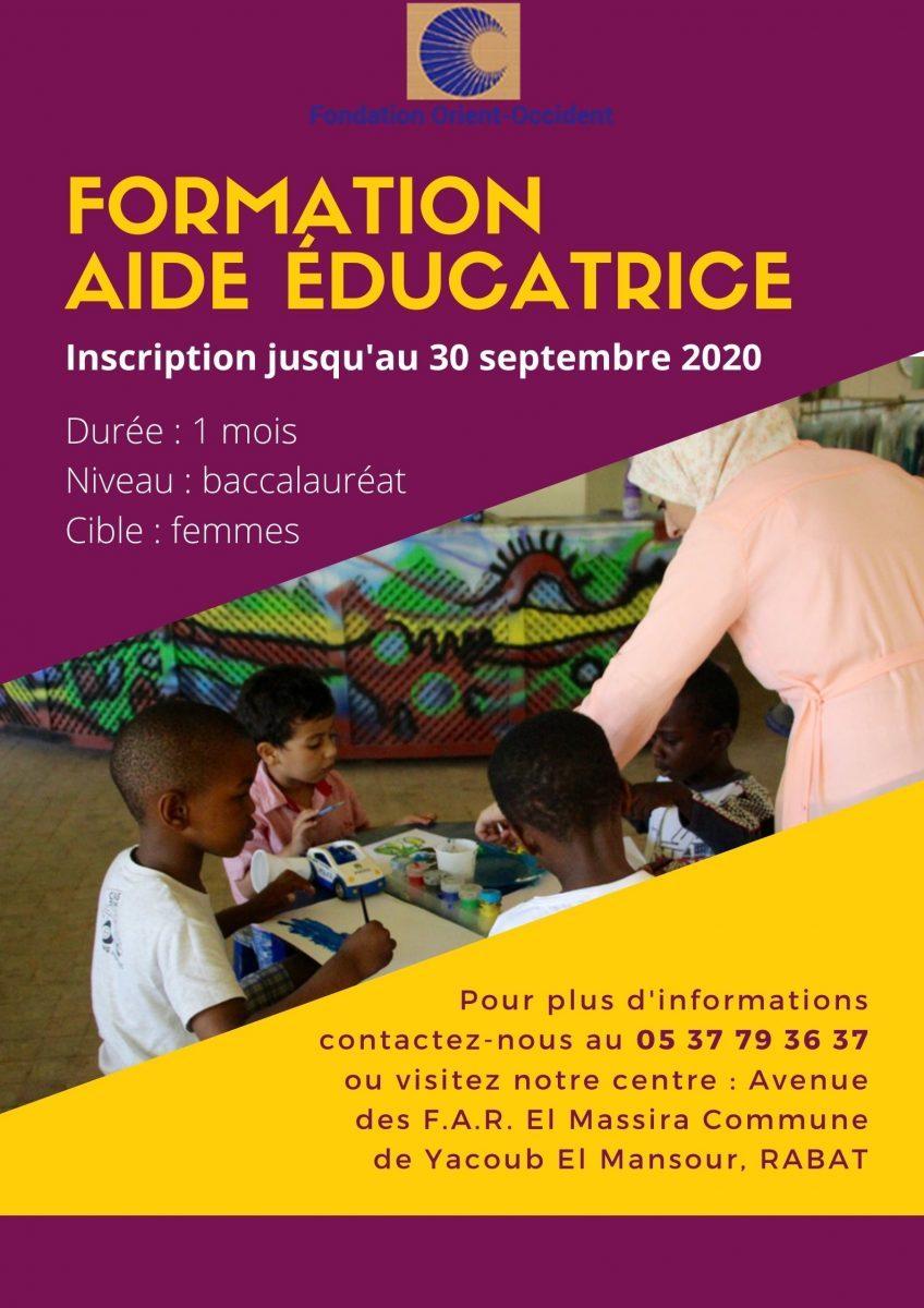 Formation aide éducatrice à la Fondation Orient-Occident