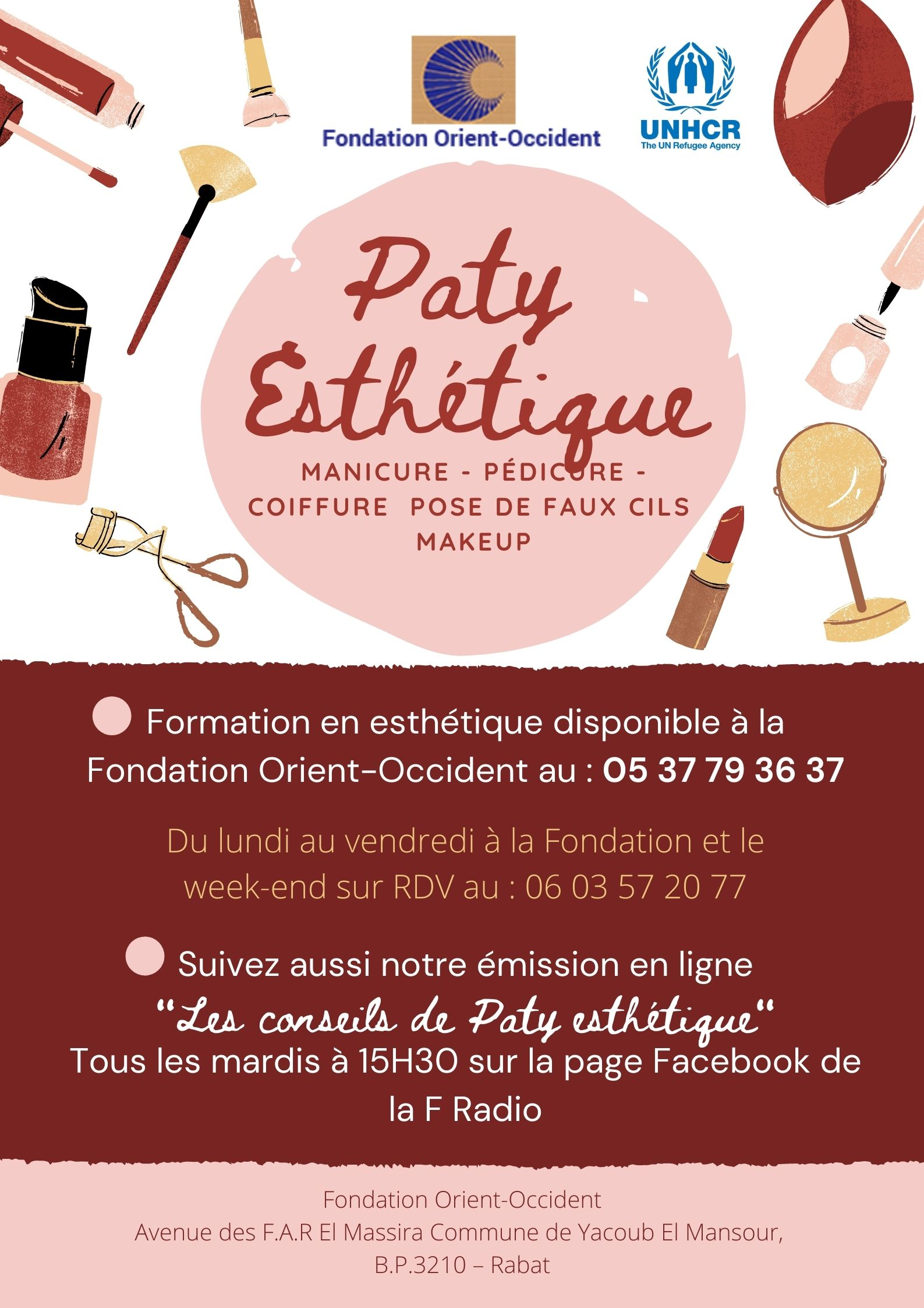 Aesthetics training available at the Fondation Orient-Occident