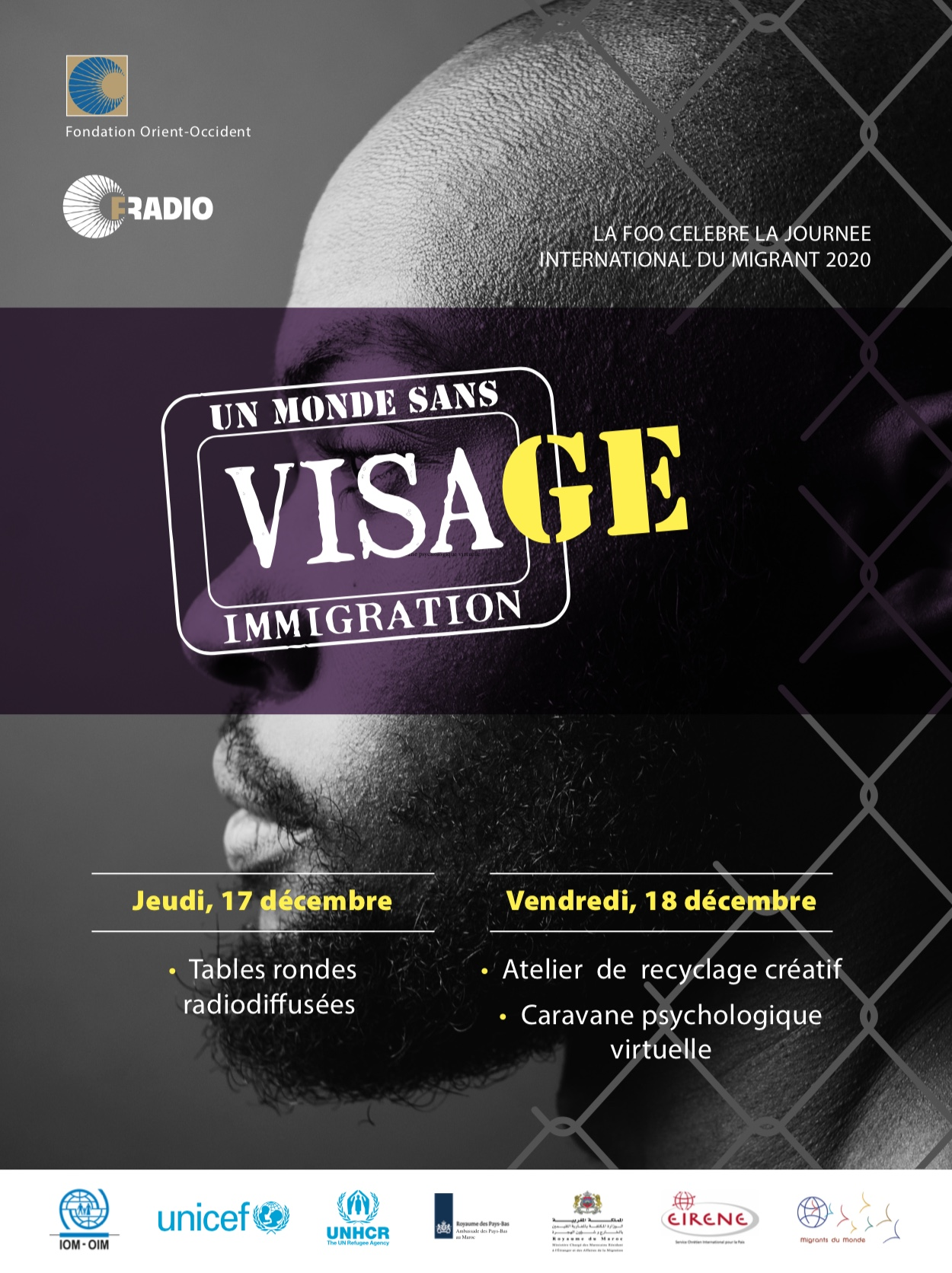 Célébration de la Journée Internationale des Migrants – Un monde sans visage – 2 jours d'activités