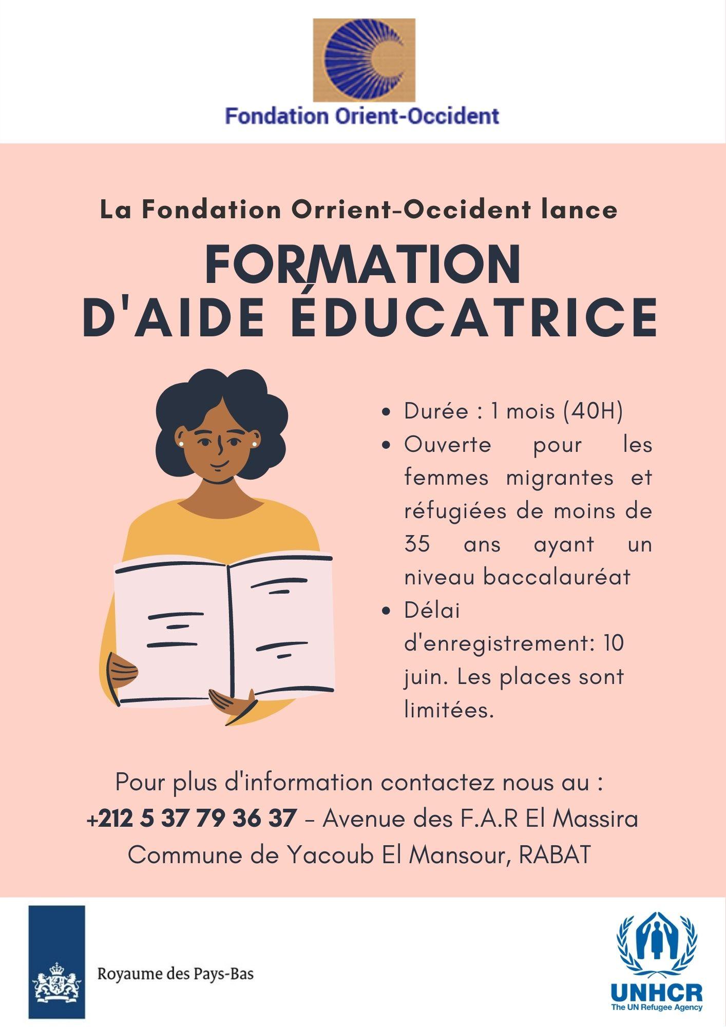 Nouvelle formation d'aide-éducatrice à la Fondation Orient-Occident de Rabat